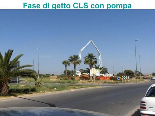 Fase di getto CLS con pompa