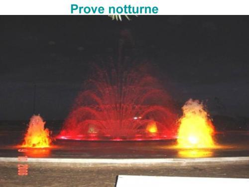Avviamento fontana inaugurazione